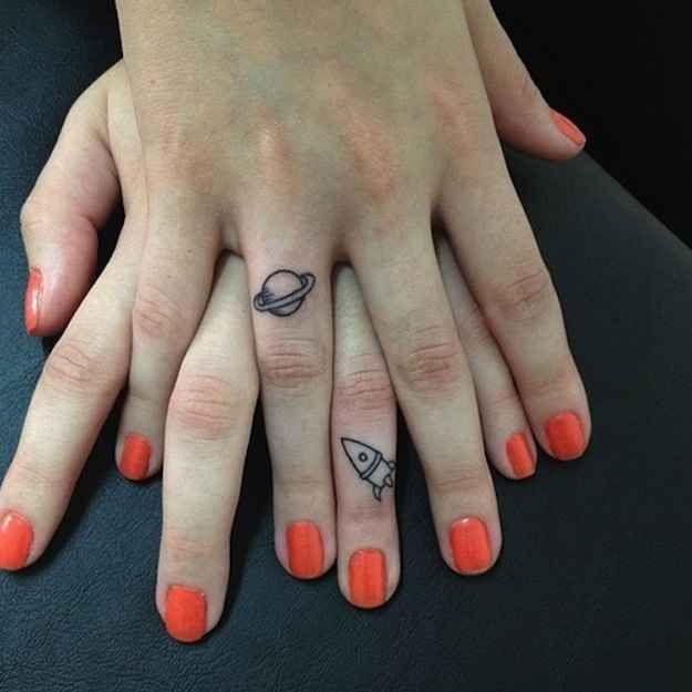 Essas sutis tatuagens de dedo no estilo geek que voc�gostaria de ter. | 31 das coisas mais fofas e graciosas que j�aconteceram