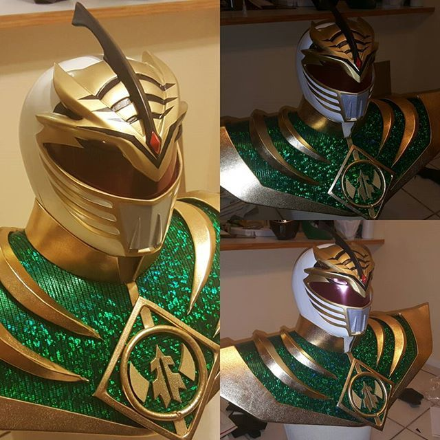 Evil White Ranger helmet and shield made by yours truly... lol  Are you ready for me Holiday Matsuri Orlando? Evil White Ranger will be there today. What ranger fans will be there?  #newmmprranger #whiteranger #fusion #mmpr #power_rangers #jdfffn #tommyoliver #greenwithevil #whitewithevil #mightymorphinpowerrangers #boomcomics #tigerdragon #blackdragon #cosplayobsession #laochfx #evilwhiteranger