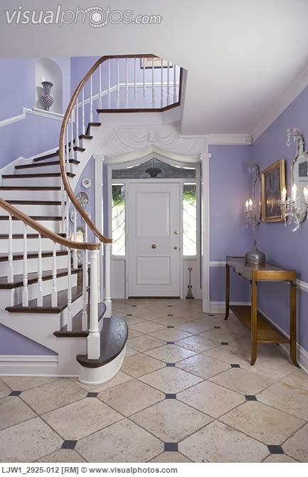 Foyer Entry Hall Elegant Entrance Periwinkle Walls With