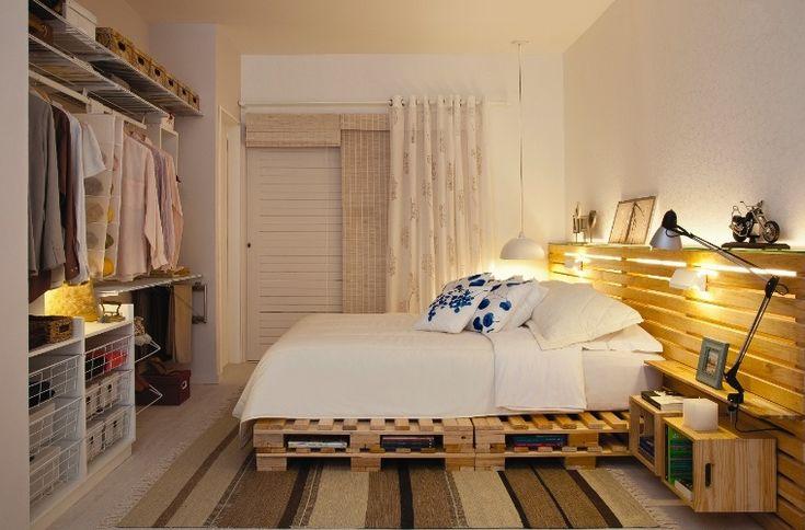 heute werde ich ihnen vorschlagen wie sie ihr schlafzimmer mit holzpaletten und obstkisten. Black Bedroom Furniture Sets. Home Design Ideas