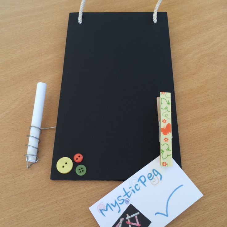 Handmade Blackboard with Peg and Chalk Holder by MysticPeg on Etsy, £7.00