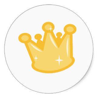 Rei Rainha Desenhos animados Ouro da coroa Adesivo
