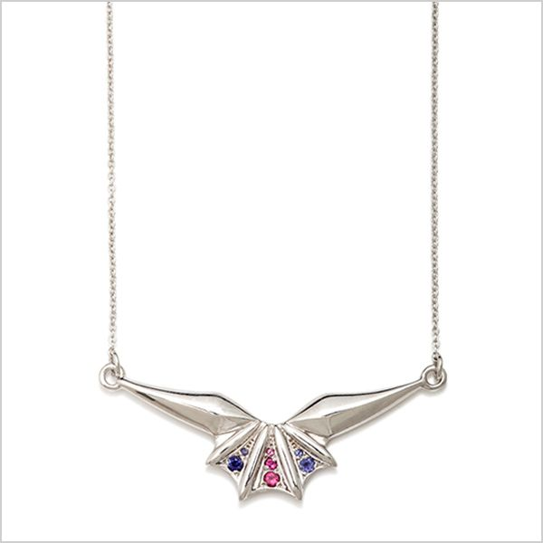 Silver plated in rhodium embellished with pink tourmaline's & Iolite