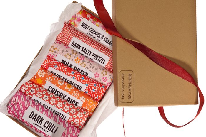 Love the patterned chocolate packaging for NYC-based Chocolate Bar. More after the jump.    This was a collaboration between Chocolate Bar and Refinery29