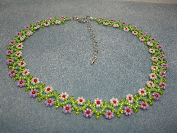 Gargantilla de perlas cadena de Margarita por DeSHOPofSS en Etsy