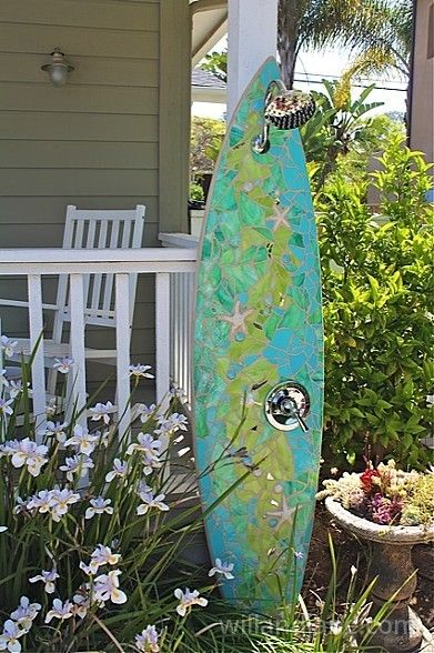 3055 best images about suncatchers dreamcatchers for Diy outdoor shower surfboard