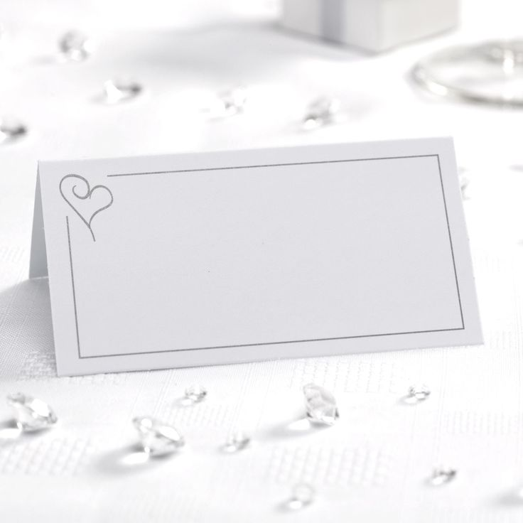 Contemporary Heart - Place Cards - Weddings