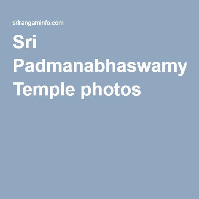 Sri Padmanabhaswamy Temple photos