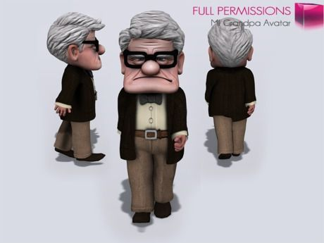 Full Perm Mesh Rigged Grandpa Avatar | looks like Carl from Up Pixar