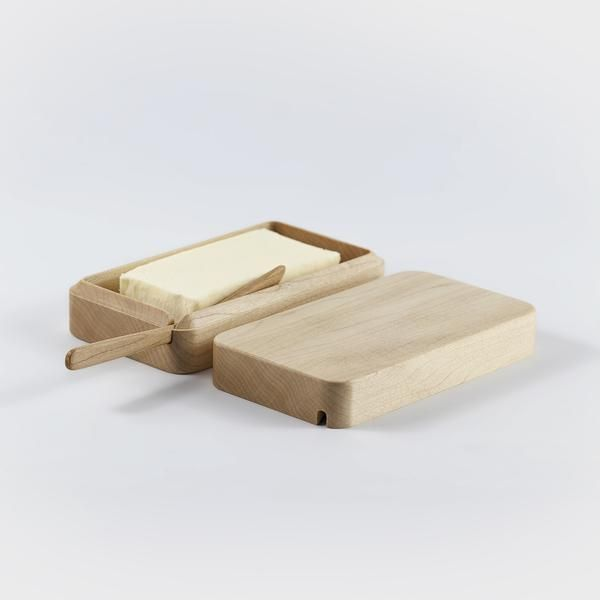Wooden butter case from Takahashi Kougei