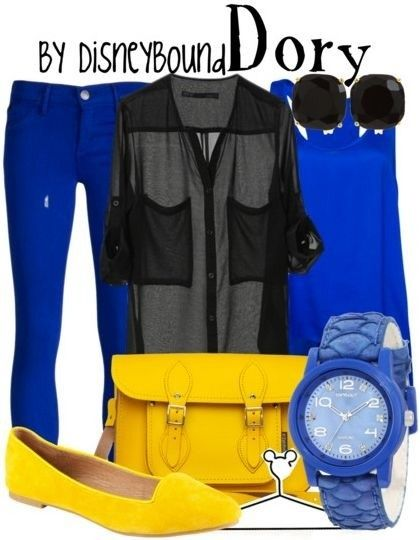 Dory from Finding Nemo disneybound