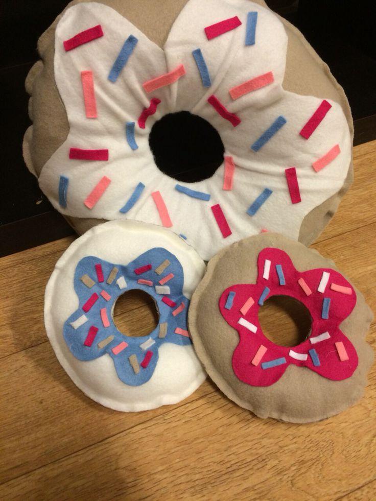 DIY Pakket donut kussens van fleece te vinden in onze online Shop www.femzshop.nl