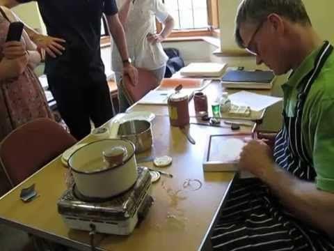 4 Aidan Hart applying bole for water gilding part 2