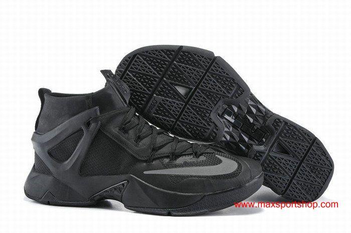 01767c2bc416 2016 The New Nike LeBron Ambassador 8 All Black Basketball Shoes  80.00