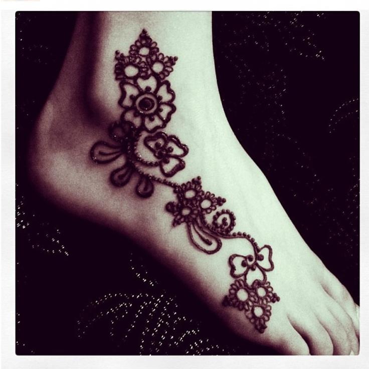 Mehndi Foot Tattoo : Henna foot tattoo pretty tatts piercings pinterest