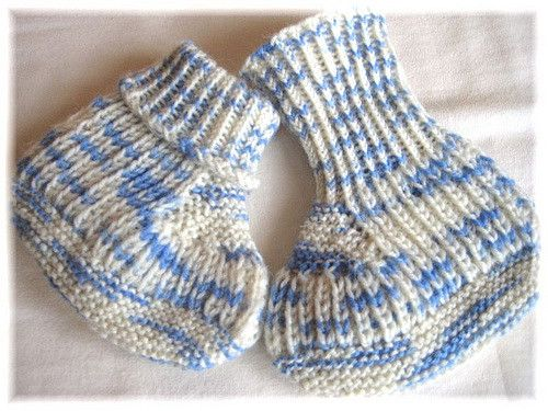 Ravelry: Blue Steps - Baby Booties pattern by Regina Willer