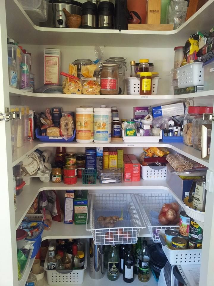 Every item has a clearly defined section - you have the least used items up the top , heavy items down the bottom and the most used items on the main three shelves. Kitchen Pantry Organising by Pick Me! Organisers