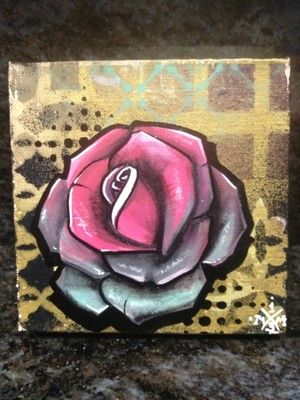 Crazy Rose Original Painting Tattoo Art Graffiti Art Folk Art Outsider 299 | eBay