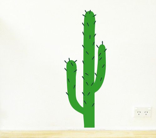 This cactus may be spikey but it is also kid friendly! Removable wall sticker decal. Customise your cactus by using a many spikes as you like! https://www.moonfacestudio.com.au/product-page/cactus-wall-sticker-decal