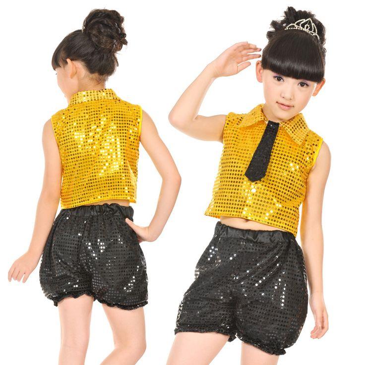 Top + Pants infantil niño traje de la danza del paillette del Hip hop ropa para las niñas E15 ropa jazz desgaste del funcionamiento de ropa en Salón de Novedad y de uso especial en AliExpress.com | Alibaba Group