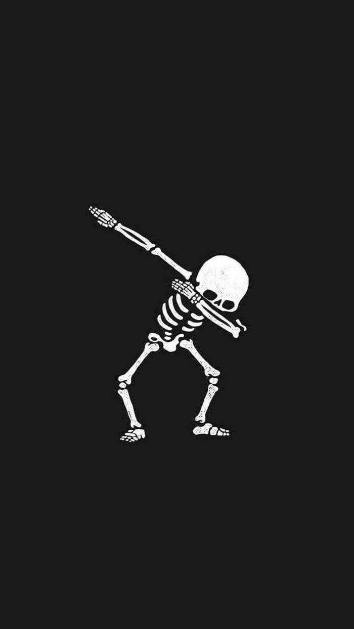 White Skeleton Dabbing Drawing Backgrounds For Girls Black Background Cute Backgrounds For Phones Cute Backgrounds Best Iphone Wallpapers