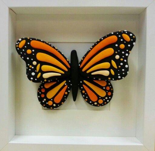 Mariposa monarca butterfly JumpingClay