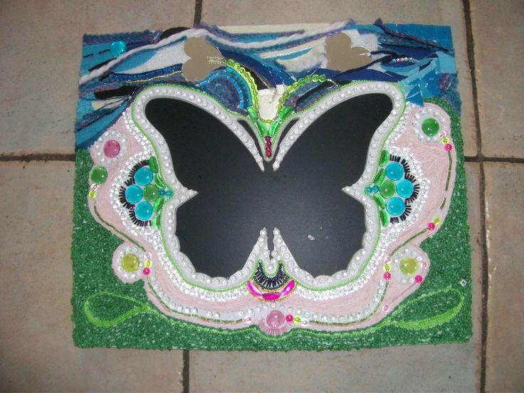 Vlinder met meerdere materialen