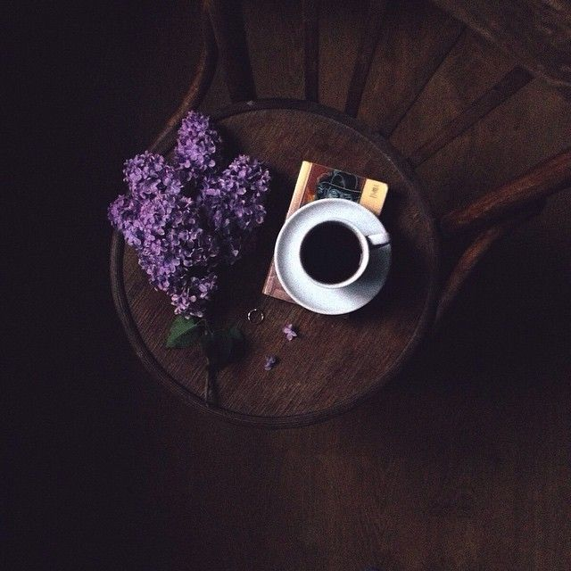 lilacs and coffee