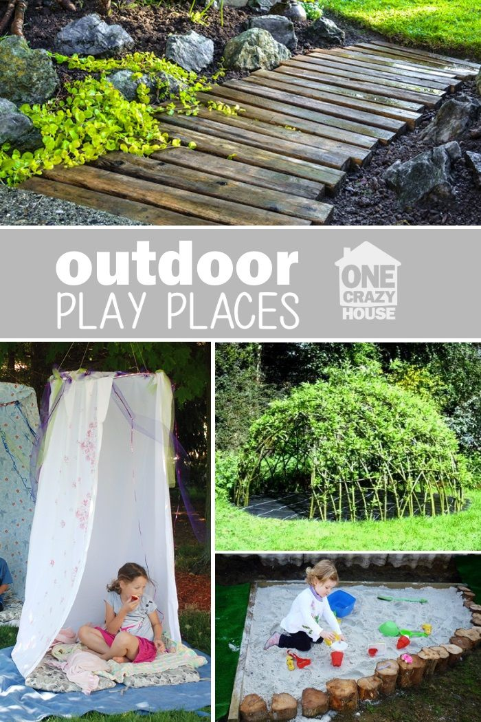 "outdoor play places - create a back yard ""kid zone"" for your children to unwind after school"