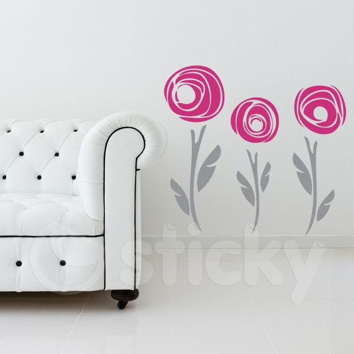 Wall Sticker MINIMAL FLOWERS by Sticky!!!