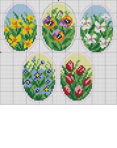 Пасхальные яйца + схемы А у меня лето ))) | biser.info - всё о бисере и бисерном творчестве