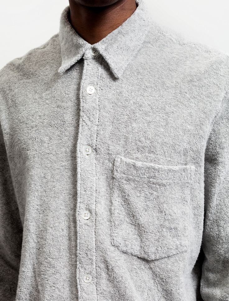 Our Legacy Terry Shirt Grey Melange – Neighbour