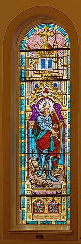 Saint Boniface Roman Catholic Church, in Germantown, Illinois, USA - stained glass window of Saint George | Flickr - Photo Sharing!