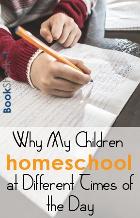 Why My Children Homeschool at Different Times of the Day