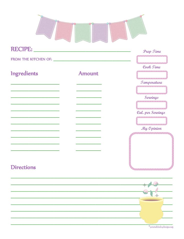 479 best printable recipe cards images on Pinterest | Printable ...