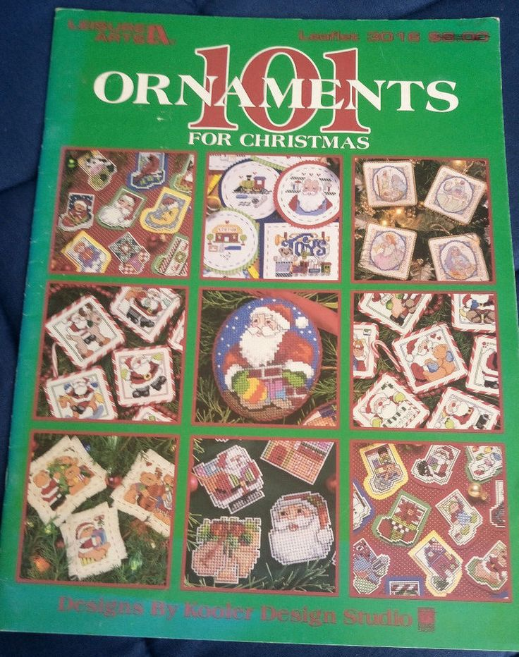 Fast & Festive 50 Christmas Designs Leisure Arts cross stitch chart book