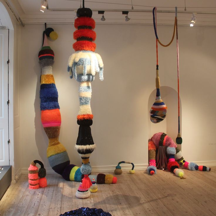 Knitted sculptures by Stine Leth More
