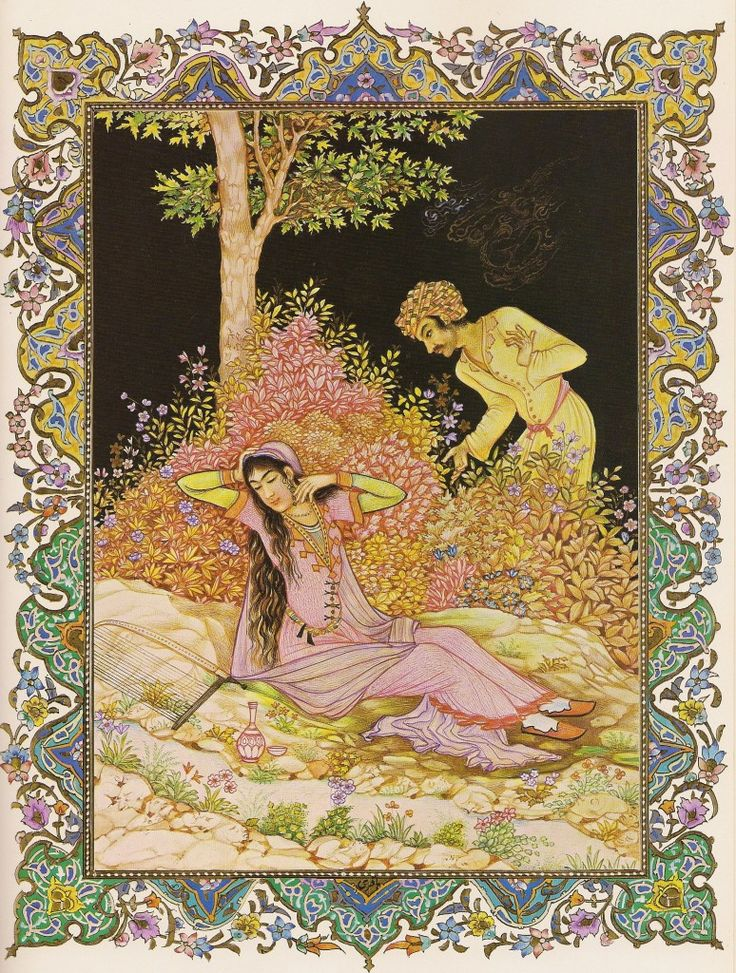 Hossein Behzad: Rubaiyat illustration