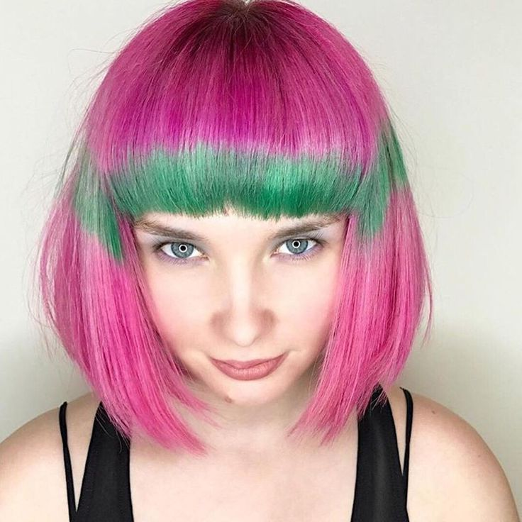 """6,206 Likes, 21 Comments - Vegan + Cruelty-Free Color (@arcticfoxhaircolor) on Instagram: """"In LOVE with this sweet watermelon color look  @leysahairandmakeup #afvirginpink #afirisgreen"""""""