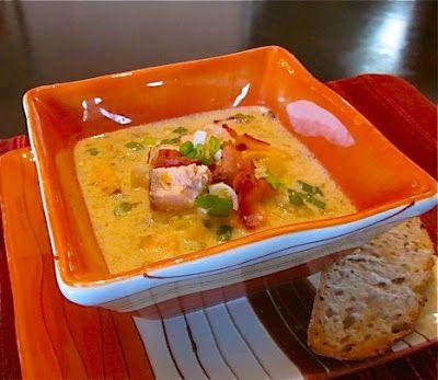 Невыразимая легкость кулинарного бытия...: Суп-чаудер из лосося
