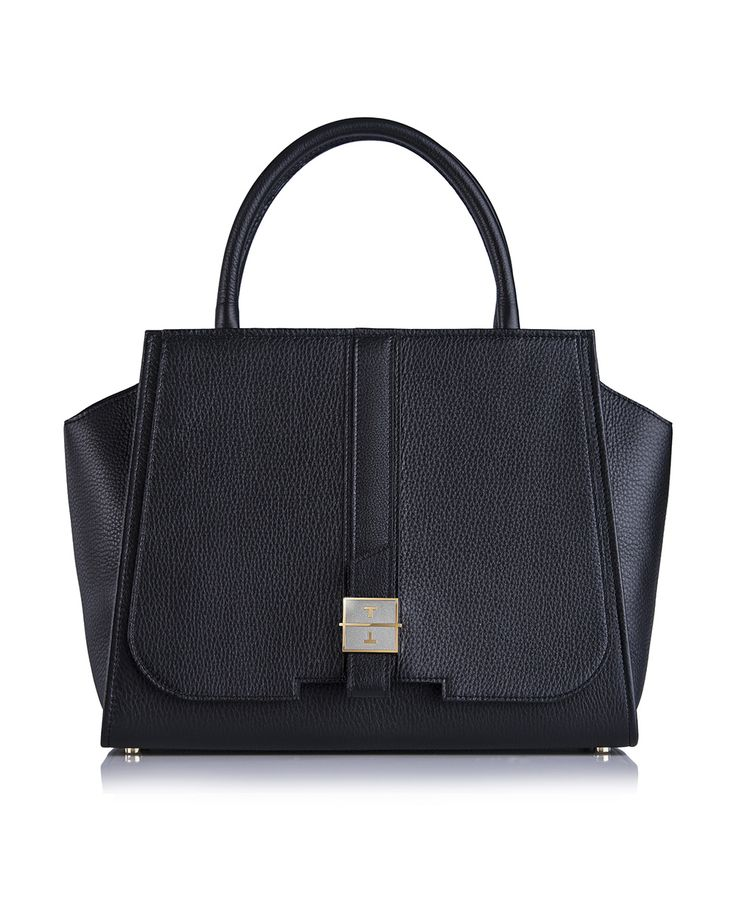 MELIA deer leather handbag in Iconic Black by TANCHEL