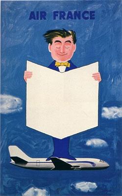 Galerie Montmartre - Air France (1957) by Raymond Savignac