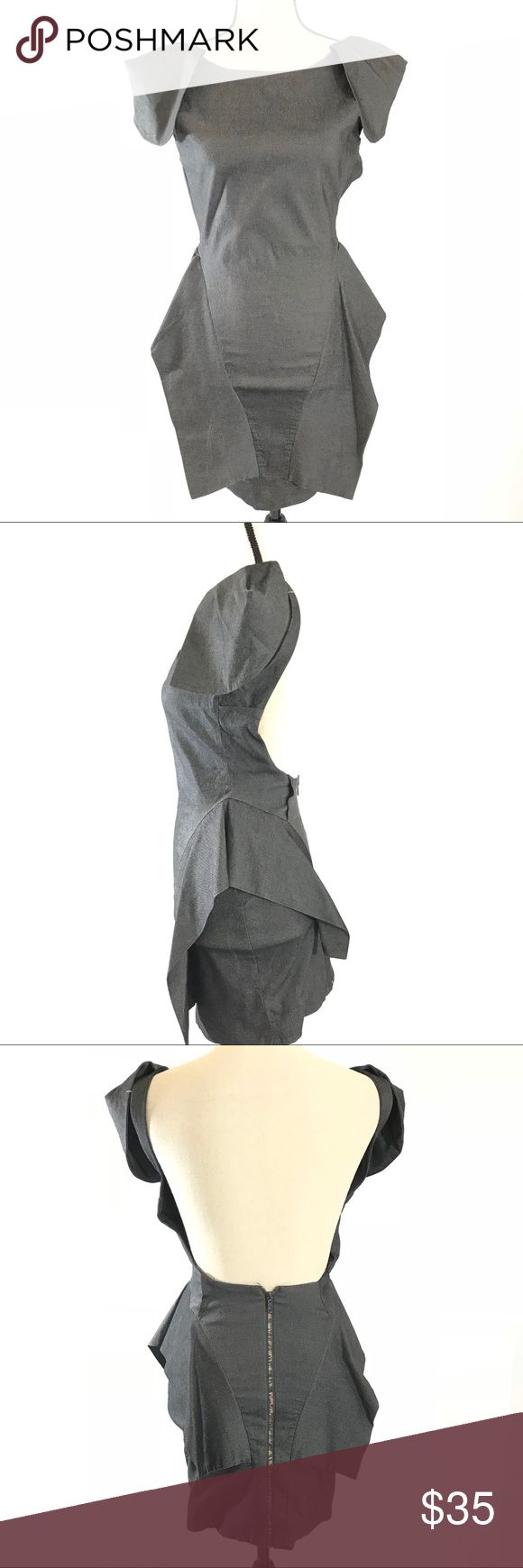 Caribbean Queen Open Back Dress New Without Tags Caribbean Queen open back Dress features back zip closure with cap sleeves. Color: Gray. Caribbean Queen Dresses