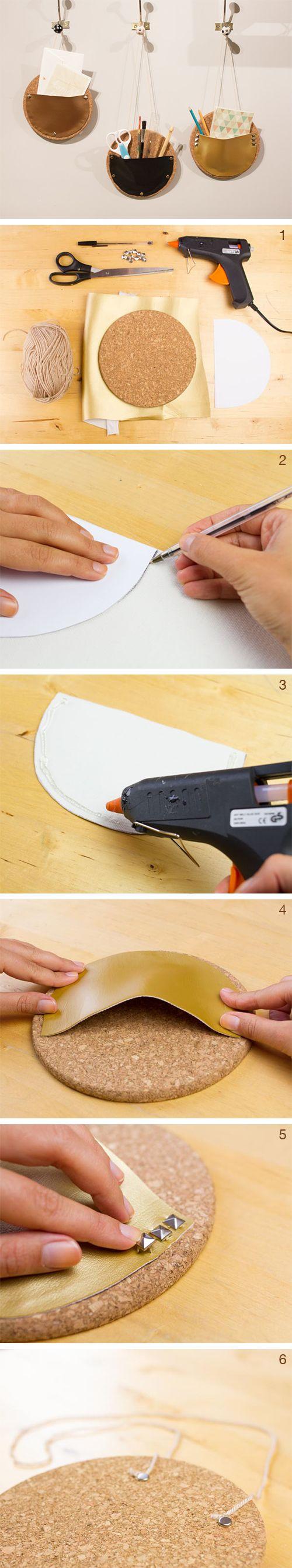 #tutoriel pour réaliser des vide-poches muraux en liège ! #deco