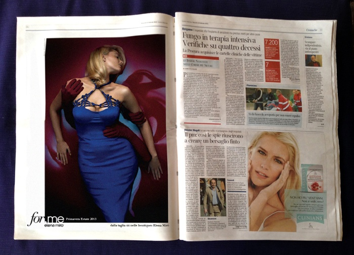Our For.me campaign in the friday editon of news paper corriere della sera.