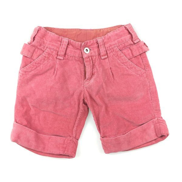 Seed, pink corduroy roll-cuff shorts with adjustable waist, good pre-loved condition (GUC), size 3-4, $10 #girlsfashion #seedheritage #shorts #preloved #daisychainclothing