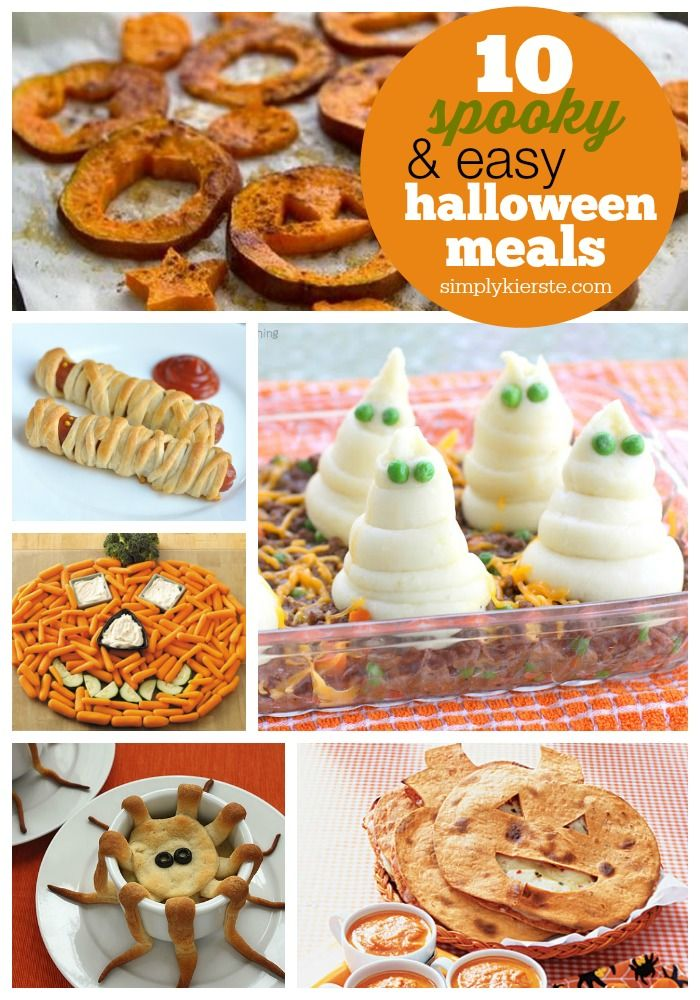 A collection of 10 Spooky & Easy Halloween Dinner Ideas! Easy to make, and sure to please any crowd!