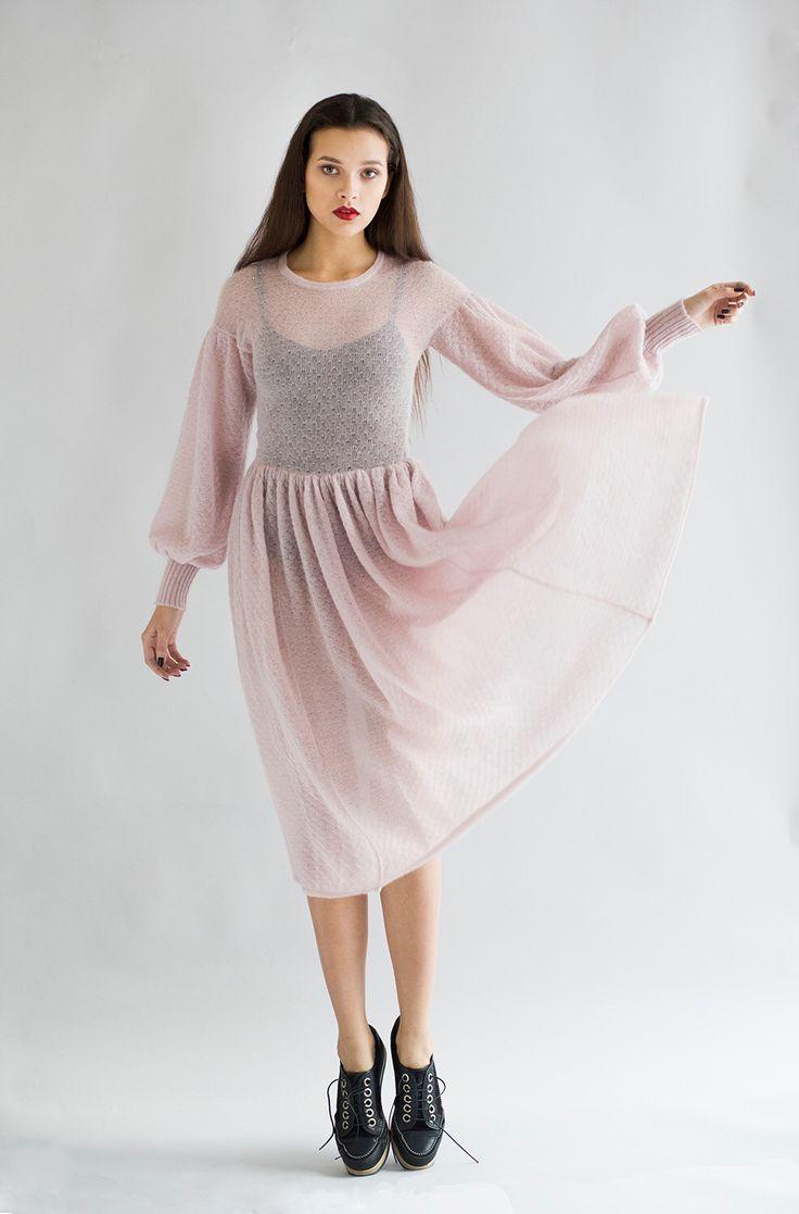 Ажурное платье из мохера EKATERINA SHISHKINA