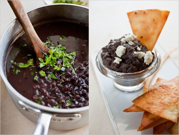 Im obsessed with refried black beans! Try them with some lean ground ...