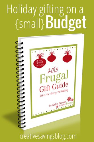 This frugal gift guide is perfect for small budgets - everything is listed for $25 or less! Available as a FREE download.